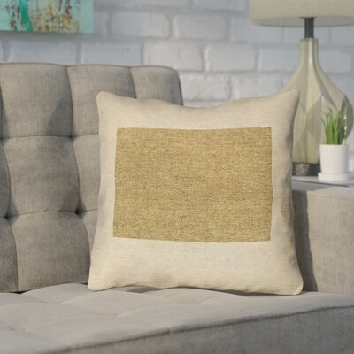 Sherilyn Wyoming Throw Pillow Color: Brown, Size: 16 x 16
