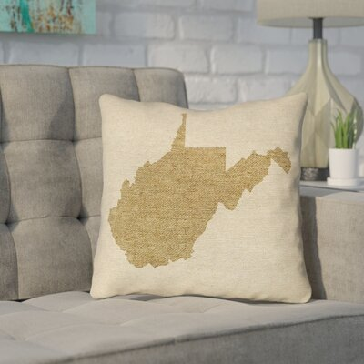 Sherilyn West Virginia Throw Pillow Color: Brown, Size: 18 x 18