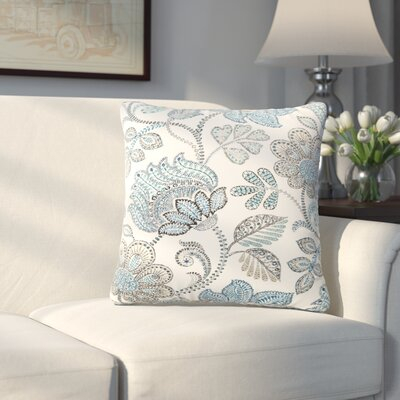 Corliss Floral Outdoor Throw Pillow Color: Blue, Size: 20 H x 20 W