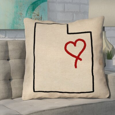 Sherilyn Utah Love Double Sided Print Size: 36 x 36, Type: Floor Pillow