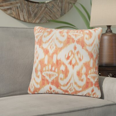 Marisa Ikat Outdoor Throw Pillow Color: Orange, Size: 18 H x 18 W