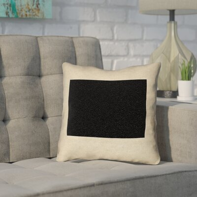 Sherilyn Wyoming Throw Pillow Color: Black, Size: 18 x 18, Type: Throw Pillow