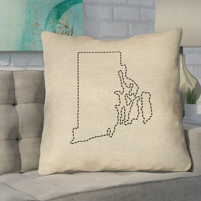 Sherilyn Rhode Island Dash Size: 18 x 18, Type: Throw Pillow