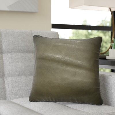 Dorine Leather Throw Pillow Color: Chocolate