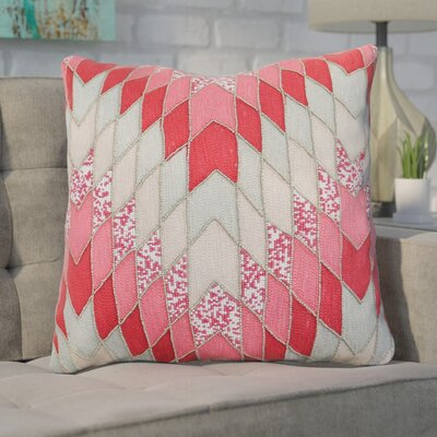 Coleridge 100% Cotton Throw Pillow Color: Peach