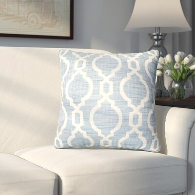 Liston Square Throw Pillow Color: Blue