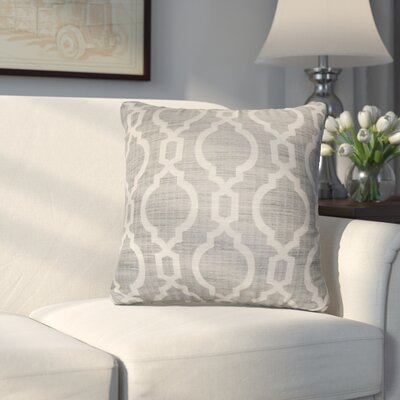 Liston Square Throw Pillow Color: Gray