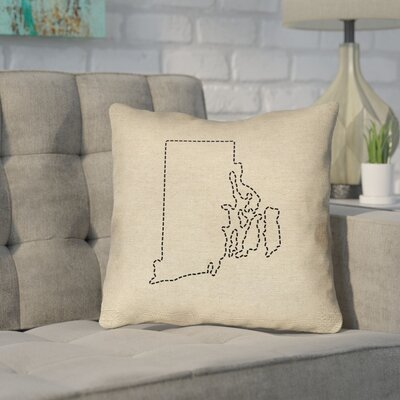 Sherilyn Rhode Island Outdoor Throw Pillow Size: 16 x 16