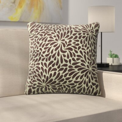 Tessier Chrysanthemum Throw Pillow Color: Elderberry
