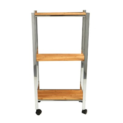 3 Tier Slim Eco-Friendly Bamboo Kitchen Cart
