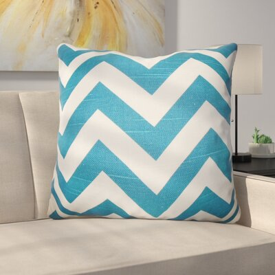 Burd Zigzag Floor Pillow Color: Turquoise