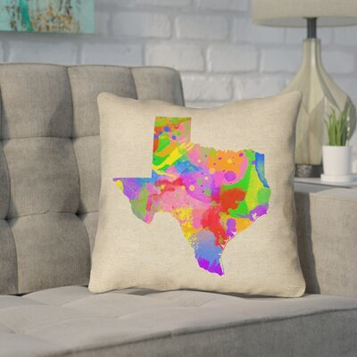 Sherilyn Texas Outdoor Throw Pillow Size: 18 x 18, Color: Green/Blue