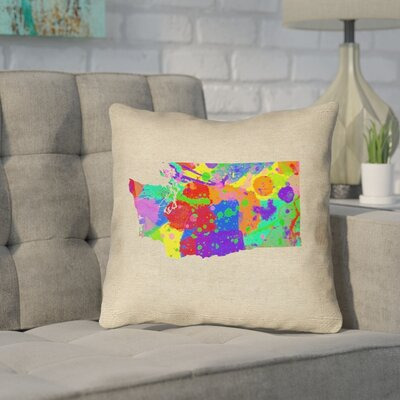 Sherilyn Washington Throw Pillow Size: 16 x 16, Color: Green/Blue