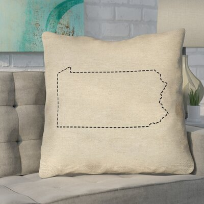 Sherilyn Pennsylvania Size: 14 x 14, Type: Throw Pillow