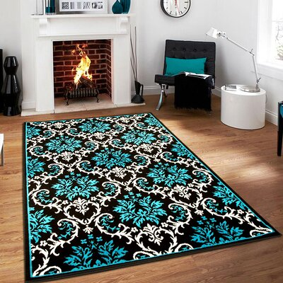 Bachangada Blue Indoor/Outdoor Area Rug Rug Size: Rectangle 5 x 8