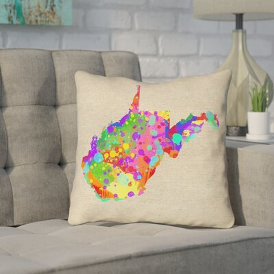 Sherilyn West Virginia Throw Pillow Color: Blue/Green, Size: 20 x 20