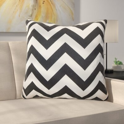 Burd Zigzag Floor Pillow Color: Black