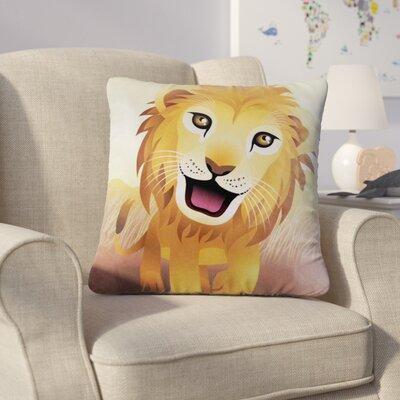 Hosford Lion Jungle Animal Throw Pillow
