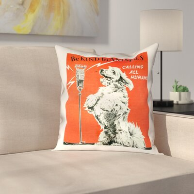 Hansard Vintage Animal Kindness Ad Throw Pillow Size: 18 x 18