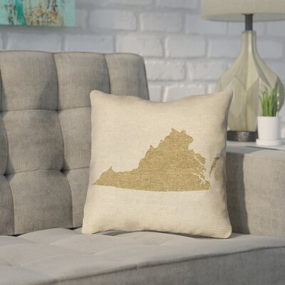 Sherilyn Virginia Throw Pillow Size: 14 x 14 , Material: Spun Polyester, Color: Brown