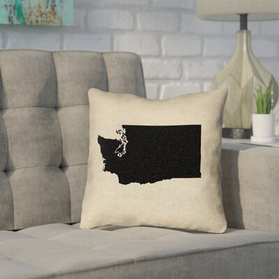 Sherilyn Washington Throw Pillow Size: 14 x 14, Material: Spun Polyester, Color: Black