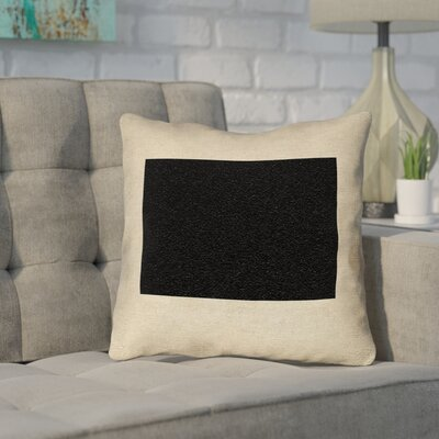 Sherilyn Wyoming Throw Pillow Color: Black, Size: 16 x 16