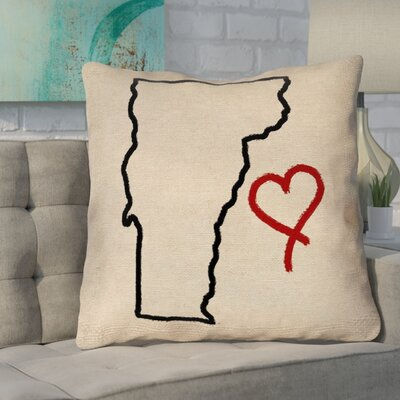 Sherilyn Vermont Love Double Sided Print Size: 28 x 28, Type: Floor Pillow