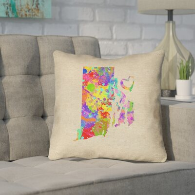 Sherilyn Rhode Island Love Outdoor Throw Pillow Size: 18 x 18