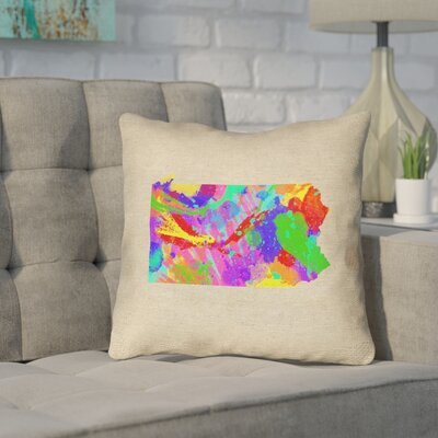 Sherilyn Pennsylvania Throw Pillow Size: 18 x 18, Color: Green/Blue