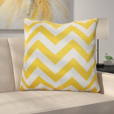 Burd Zigzag Floor Pillow Color: Yellow/White