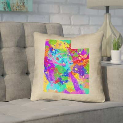 Sherilyn Utah Throw Pillow Size: 16 x 16, Color: Green/Blue