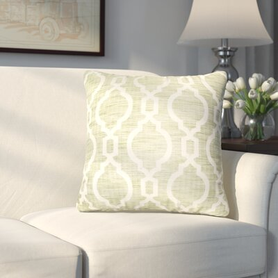 Liston Square Throw Pillow Color: Green
