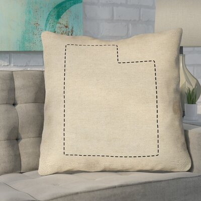 Sherilyn Utah Double Sided Print Size: 26 x 26, Type: Throw Pillow