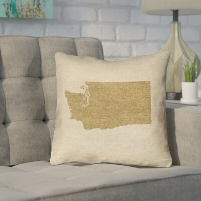 Sherilyn Washington Throw Pillow Size: 20 x 20, Color: Brown