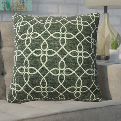 Defino Spirograph Throw Pillow Color: Pewter