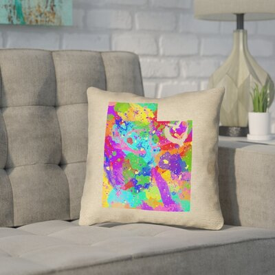 Sherilyn Utah Love Throw Pillow Size: 16 x 16, Material: Faux Linen