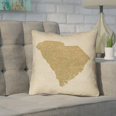 Sherilyn South Carolina Outdoor Throw Pillow Size: 18 x 18, Color: Brown