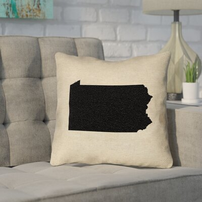 Sherilyn Pennsylvania Throw Pillow Size: 20 x 20, Color: Black