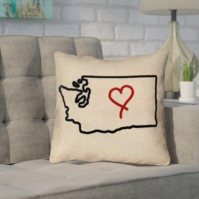 Sherilyn Washington Love Outdoor Throw Pillow Size: 18 x 18