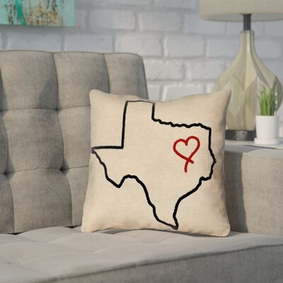 Sherilyn Texas Love Double Sided Print Pillow
