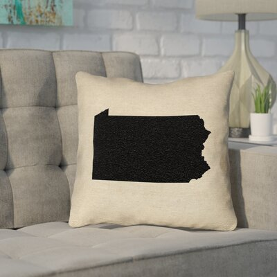 Sherilyn Pennsylvania Throw Pillow Size: 16 x 16, Color: Black