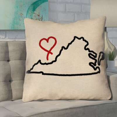 Sherilyn Virginia Love Size: 14 x 14, Type: Throw Pillow