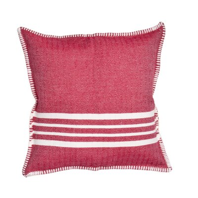 Charlie Cotton Pillow Cover Size: 18 x 18, Color: Red