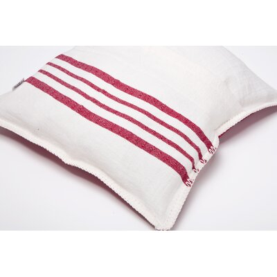 Charlie Cotton Pillow Cover Size: 16 x 16, Color: Red