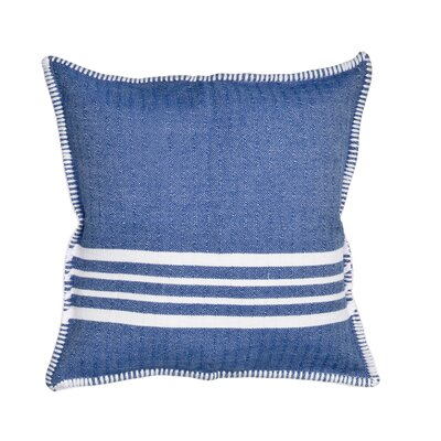 Charlie Cotton Pillow Cover Size: 18 x 18, Color: Blue