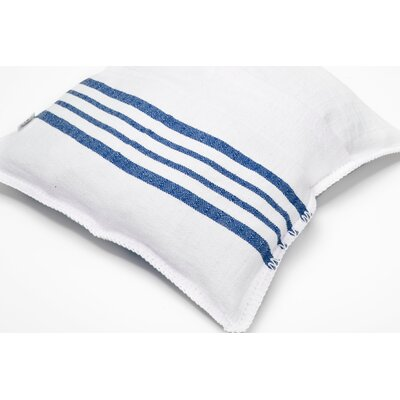 Charlie Cotton Pillow Cover Size: 16 x 16, Color: Blue