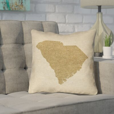 Sherilyn South Carolina Outdoor Throw Pillow Size: 16 x 16, Color: Brown