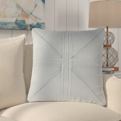 Rafaela Oversized Frayed Linen Throw Pillow Color: Light Blue