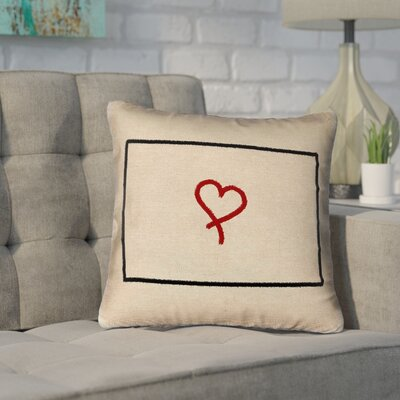 Sherilyn Wyoming Love Outline Throw Pillow Size: 20 x 20