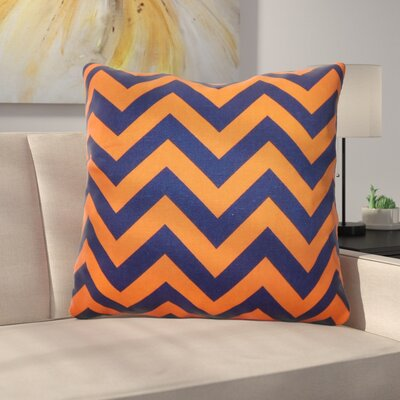 Burd Zigzag Floor Pillow Color: Orange/Navy
